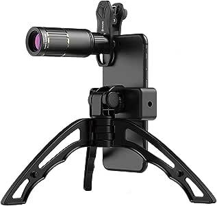 ActyGo スマホ望遠レンズ 16倍 スマホ三脚 98%の iphone Android対応 高級アルミボディ 月の撮影が可能 1年保証