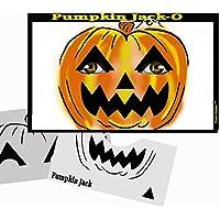 Halloween Face Painting Stencil - StencilEyes Pumpkin Jack-O by ShowOffs Body Art