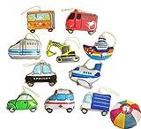 【ビニール玩具】ヨーヨーコレクション のりもの (10個入り)【パンチボール】  / お楽しみグッズ(紙風船)付きセット [おもちゃ&ホビー]