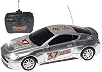 Top Race Aston Martin 4ch Rc Remote Control Racing Car with Lights Blue