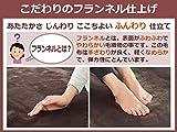LIFEJOY 洗える 日本製 電気毛布 敷きタイプ ふわふわ 140cm×80cm ダークブラウン JBS551F