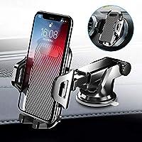 車載ホルダー Auckly スマホスタンド スマホ ホルダー 2in1強力ゲル吸盤式&エアコン出し口式兼用 オートホールド式 伸縮アーム 取り付け簡単/360度回転可能/片手操作/多機種対応/iPhoneXS Max/Xs/Xr/X/8/7/6 Plus/Samsung Galaxy S10/S10+/S9/S8/S7/Sony/LG/Huaweiなど