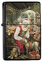 Petrol lighter ライター Printed Santa Claus Workshop Rocking Horse