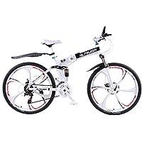 Altruism X9 マウンテンバイク 折り畳み式 26インチ タイヤ シマノ21段変速 ロードバイク 泥除け 軽量 アルミニウム合金