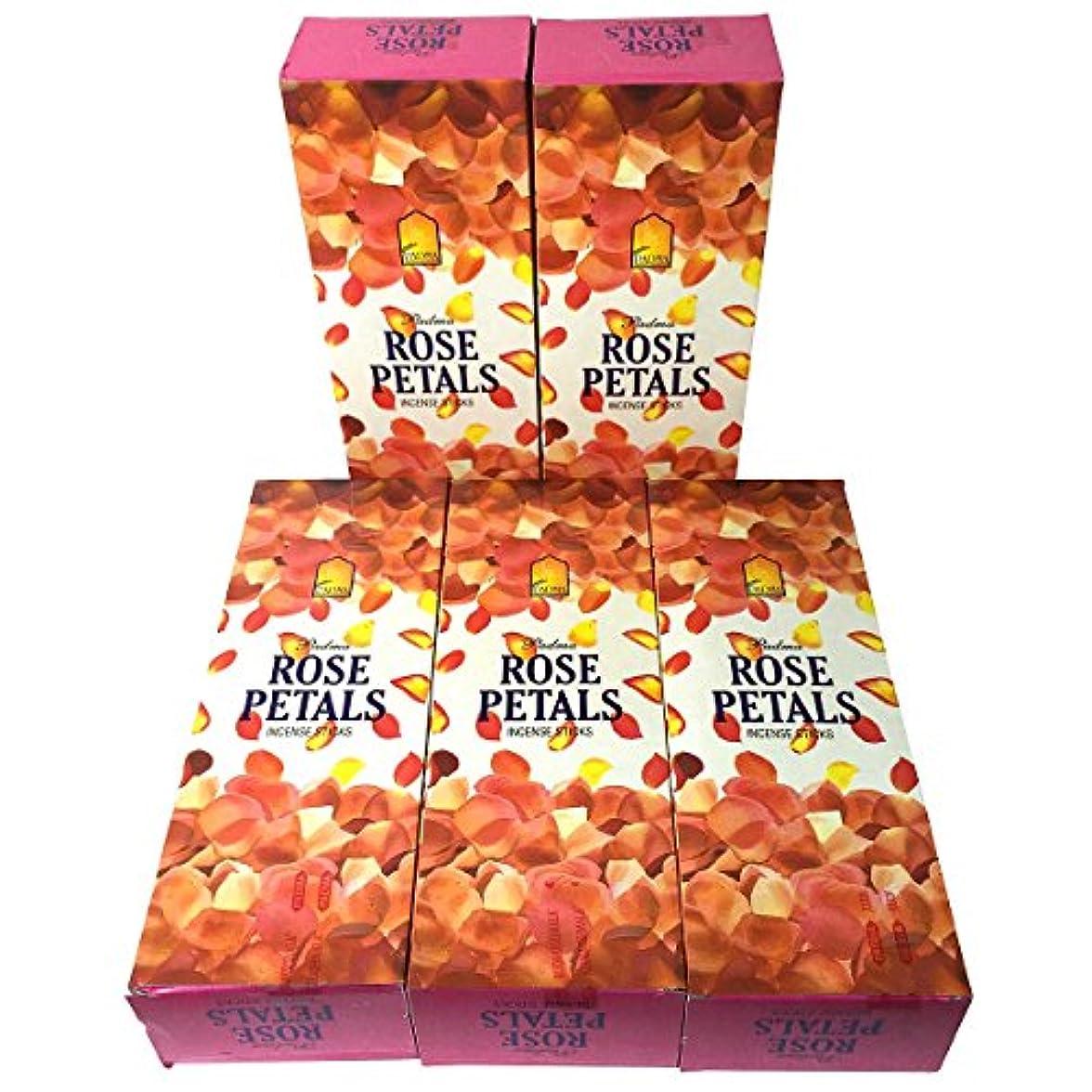 パケット注入するあらゆる種類のローズペタル香スティック 5BOX(30箱)/PADMA ROSE PETALS/ インド香 / 送料無料 [並行輸入品]