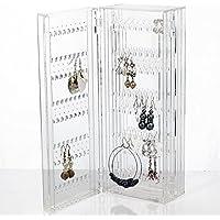 Wonepo Glamorous Foldable Acrylic Earring Screen Stand Display Organiser Jewellery Rack Hanger