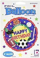 "Betallic 16650pスポーツBuff誕生日ホイルバルーンパック、18"""