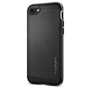【Spigen】 iPhone7ケース, ネオ・ハイブリッド [ 米軍MIL規格取得 二重構造 バンパー ] アイフォン 7 用 カバー (iPhone7, ガンメタル)
