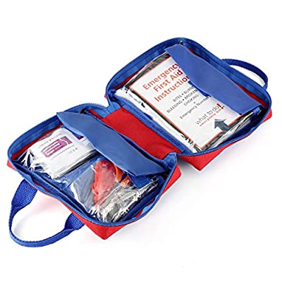 First Aid Kit 126 Pcs Magicfly All-Purpose Compact Medical Emergency Kit for Camping, Hiking, Home, Travel, Sports, Survial