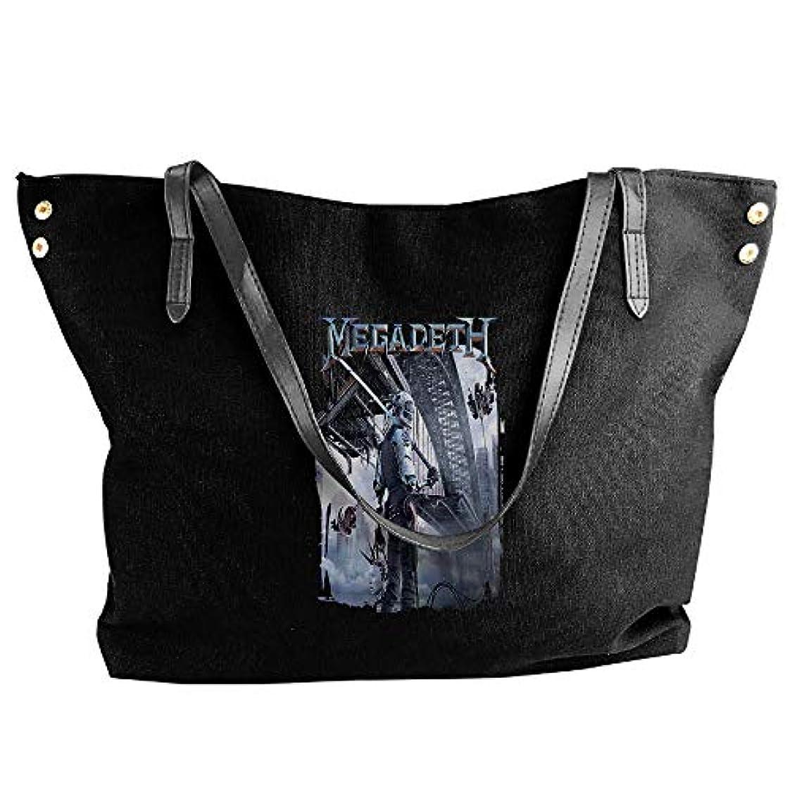 遅らせる週間プロフェッショナル2019最新レディースバッグ ファッション若い女の子ストリートショッピングキャンバスのショルダーバッグ Megadeth 人気のバッグ 大容量 リュック