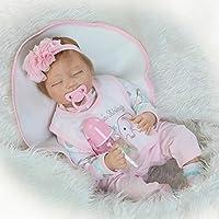 Reborn Girl Sleeping Babyソフトビニール人形シリコン生まれRealキッズ人形磁気おしゃぶりおもちゃ22インチ