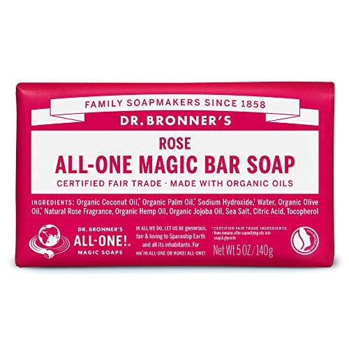 ドクターブロナー マジックソープバー magic soap 石鹸 ローズ 140g ネイチャーズウェイ