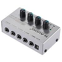 Andoer ミキサー サウンドミキサー 4チャンネル オーディオミキサー 110-240V 楽器・音響機器 MX400