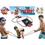 (ザパトリオット) The Patriot水風船発射ゲーム 裏庭で遊ぶぱちんこおもちゃ- 2つのスプラッシュボールと50個の生分解性の風船付き