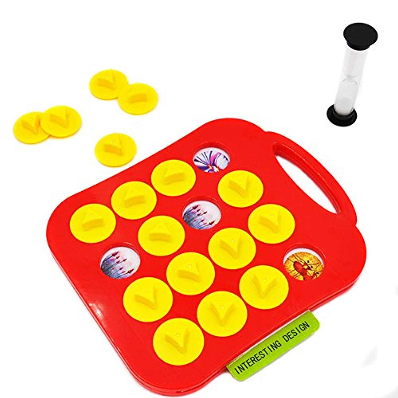 Liebeye ペアゲームのおもちゃ 子供の記憶トレーニングマッチペアゲーム早い教育インタラクティブトイ親子チャイルドリンク 4-6歳 レッド