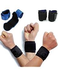 新 調節可 スポーツ用 手首 巻き付け 包帯 ジム支援 締付手首バンド 1カップル