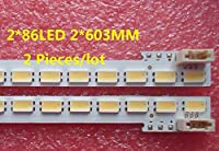 "XM 55"" 55-DOWN LJ64-03353A LED strip SLED 2011SGS55 5630 R L 86 H1 RVE1.0 for LTA55HQ16 86LED 603MM 2 Pieces/lot"