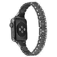 Mtozon バンド Apple Watch用バンド 38mm 40mm 42mm 44mmシリーズ4/3/2/1 交換用金属 ラインストーンブリングブレスレット リストバンド レディース 42mm/44mm