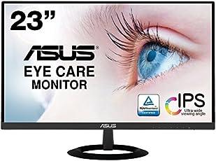 【www.z328y.cn限定】ASUS フレームレス モニター 23インチ IPS 薄さ7mmのウルトラスリム ブルーライト軽減 フリッカーフリー HDMI,D-sub スピーカー VZ239HR