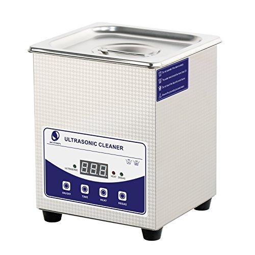 SKYMEN 超音波洗浄機 2L 超音波洗浄器|脱気機能/0-60分のクリーニング時間の設定/65℃に加熱することができる| 小型業務用 超音波洗浄 メガネ 入れ歯 アクセサリー 金属部品