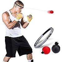 Poilee ボクシング ボール 格闘技 打撃練習 パンチングボール ボクシング トレーニング2個球 汗止めヘッドバンド付き トレーニングボール 軽量 反射速度、動体視力、距離知覚の能力など鍛える ファイトボール