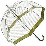 [ムーンバット] FULTON(フルトン) Birdcage バードケージ 婦人ビニール長傘 【ストライプ】 カーキー 日本 親骨65cm (FREE サイズ)