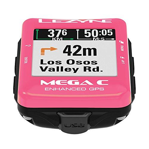 【日本正規品】LEZYNE MEGA C GPS Limited Edition ピンク 日本語対応モデル