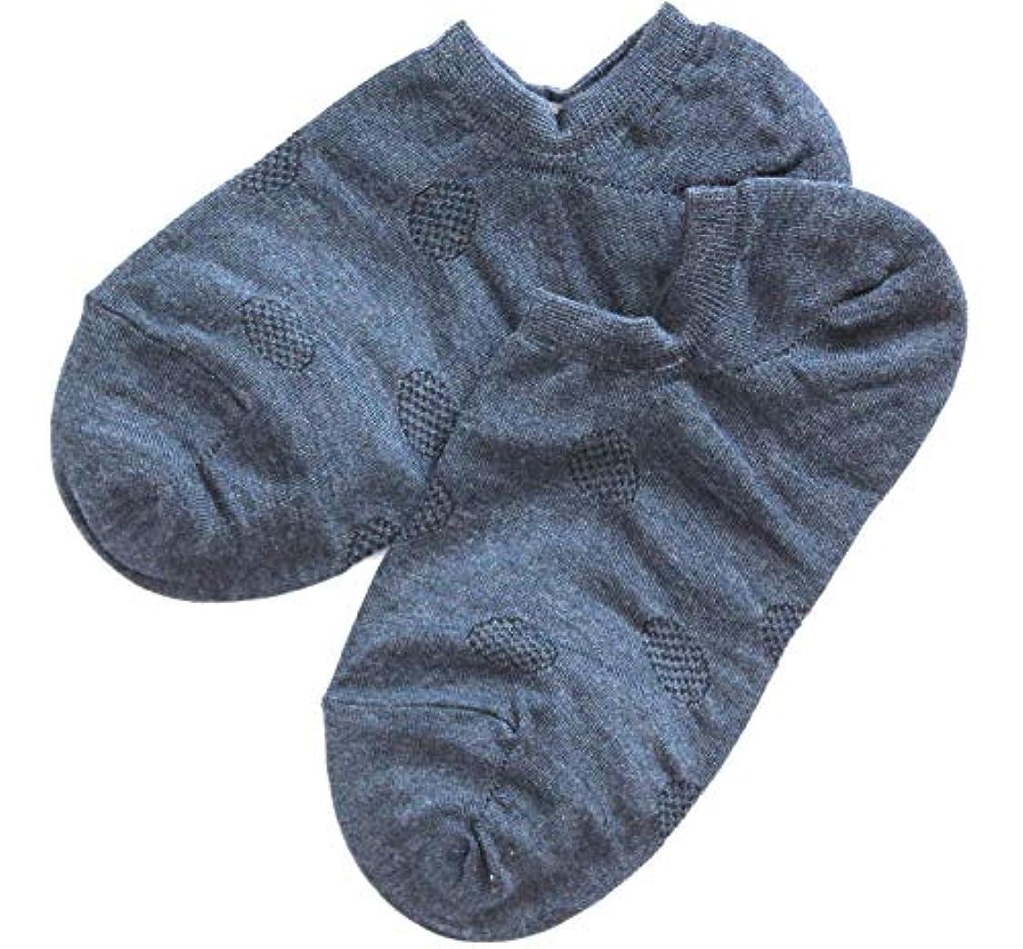 シェルター宇宙飛行士ケーブル温むすび かかとケア靴下 【足うら美人カバーソックスタイプ 女性用 22~24cm ネイビー】 ひび割れ ケア 夏用