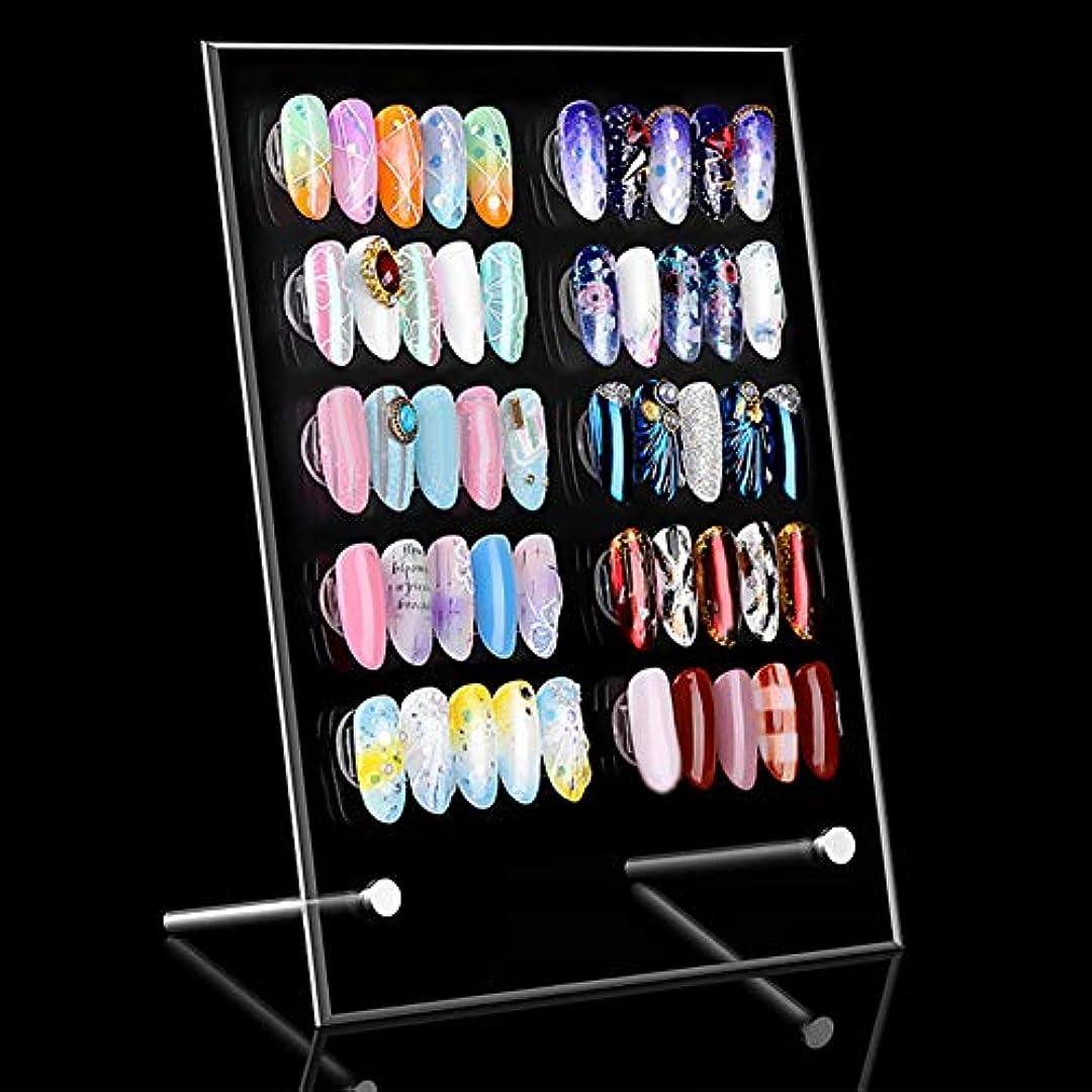 結晶杭石油slQinjiansavネイルアート&ツールディスプレイホルダー磁気ネイルアートホルダー取り外し可能なアクリル偽のチップディスプレイスタンドラックを示す磁気ネイルアート