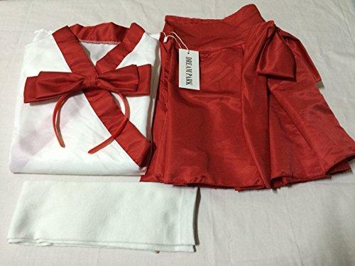 『【コスプレ】KISKIS dreampark コスチューム 巫女(白タイツ付き)2点 セット 和装 白色 赤色 (【Mサイズ】)KK277』の2枚目の画像