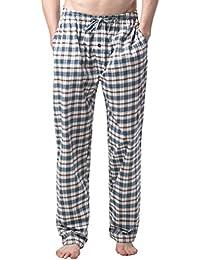 (ラパサ) Lapasa パジャマパンツ 綿 パジャマ下 ズボンだけ 部屋着 ルームウェア リラックスウェア チェック柄 ゆったり M38