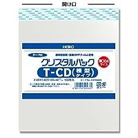 ヘイコー OPP袋 テープ付き クリスタルパック T CD(横型) 1000枚(100枚×10袋)