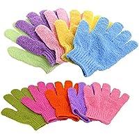 浴用手袋 お風呂用手袋 垢すりグローブ バス用品 五本指 男女兼用 便利なループ付け 10枚セット