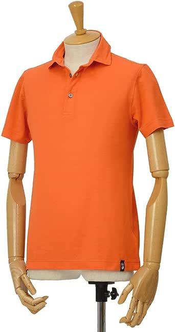 [Drumohr【ドルモア】]強撚クレープ 半袖ポロ DTJ202 280 コットン オレンジ(S)