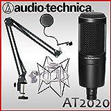 audio-technica オーディオテクニカ AT2020(デスクアームマイクスタンド・ショックマウント付き)