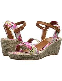 [Polo Ralph Lauren(ポロラルフローレン)] キッズサンダル?靴 Carmen (Little Kid/Big Kid) Pink Floral/Jute 13 Little Kid (19cm) M