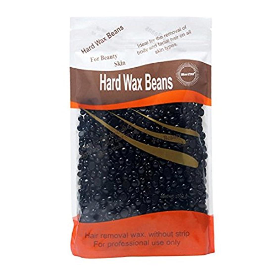 石膏バナー透過性Healifty ワックスビーズ ハードビーンズ ストリップ脱毛 固体 粒タイプ 脱毛 除毛 ハードフィルムワックスペレット 300g(ブラック)