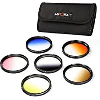 【国内正規品】K&F Concept 40.5mm グラデーションカラーフィルター 6色セット(オレンジ・ブルー・グレー・ブラウン・イエロー・ピンク)