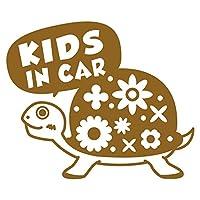 imoninn KIDS in car ステッカー 【パッケージ版】 No.53 カメさん (ゴールドメタリック)