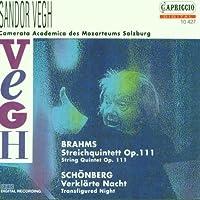 Brahms: Streichquintett, G-Dur, Op. 111 / Schonberg: Verklarte Nacht, Op. 4