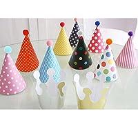 (11本入り)ペーパー帽子 誕生日?パーティー用 クラウン&ハットセット