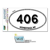 406 - ホームステッド, MT - モンタナ - 楕円形市外局番ステッカー