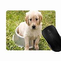 マウスパッド かわいい犬, 疲労低減 ワイヤレスマウスパッド 耐久性が良い 滑り止めゴム底 滑りやすい表面 マウス用パット 1L394