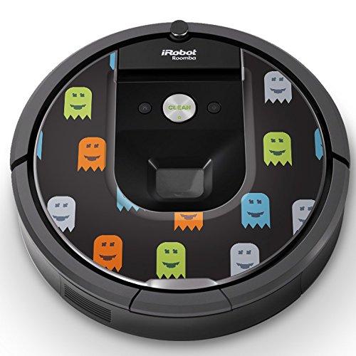 iRobot ルンバ Roomba 専用スキンシール ステッカー 960 980 対応 ユニーク おばけ カラフル 006448