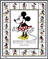 ポスター ディズニー ミニーマウス クラッシック 額装品 アルミ製ベーシックフレーム(ブラック)
