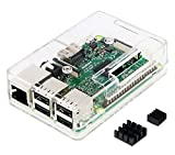 Raspberry Pi3 Model B ボード&ケースセット 3ple Decker対応 (Element14版, Clear)-Physical Computing Lab