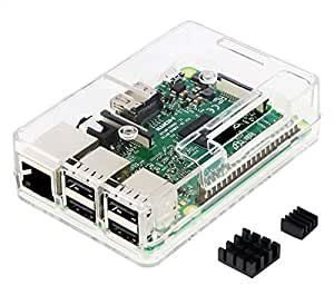 Raspberry Pi3 Model B ボード&ケースセット 3ple Decker対応 (Clear)-Physical Computing Lab