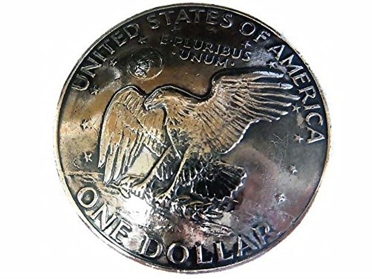 必要条件明るい推進USAアメリカ合衆国 大サイズ$1ドル硬貨裏面 アイク?ダラー 白頭鷲 メダル/コインコンチョCONCHO