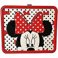 [ディズニー]Disney Minnie Mouse Black, Red and White Polka Dot Lunch Box Tin [並行輸入品]