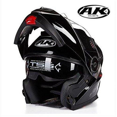 Yuhuaze バイクヘルメット フルフェイスヘルメット システムヘルメット YHZ-35 B076Q8YPWJ 1枚目